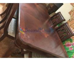 Dinning Table & 6 Chairs 6.5 ft x 3.5 ft with a China Cabinet