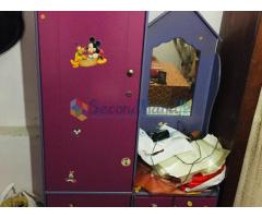 Used cot bed / Study Table & Cupboard