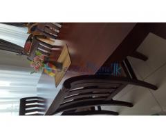 A beautifull Mahagony dining set by furniture plus .