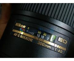 Nikon AF-S ED 300mm f4 ( prime ) lens for sale 0777115845