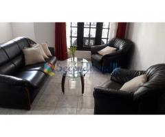 Black color Sofa set with coffee table free