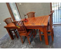 Teak Dining Table with Chairs
