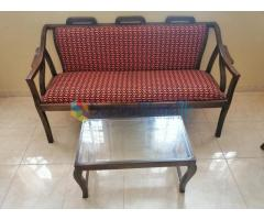 Teak Settee set with coffee table