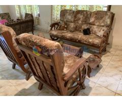 Teak Settee set with coffee table