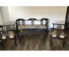 5 Seater Mahogany Sofa set