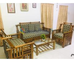 Carefully home used Teak Sofa set