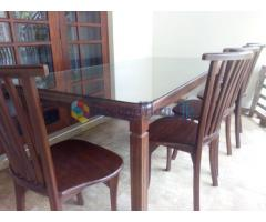 Dinning table set and two double beds