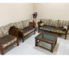 Teak wood sofa set for sale. Rs. 50,000/-