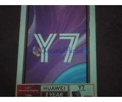Huawei Y7 2019 for sale (Box open only. Not Used)