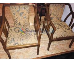 Used teak Chair set with stool