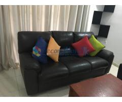 Used Damro leather sofa set