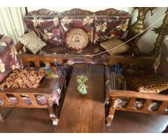Teak wooden sofa set