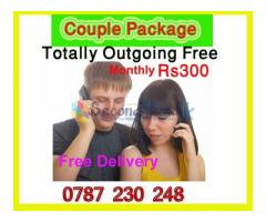 Special Couple Sims Monthly Rs 300/- Free Delivery