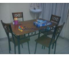Dinning table with four chairs for sale