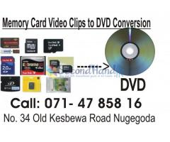 Memory Cards Video Clips to DVD Conversion