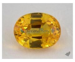 Genuine Yellow Sapphire Gem Stone 0.88ct