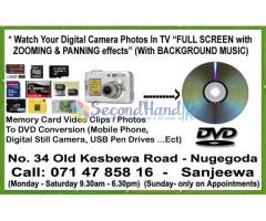 Memory Card Video Clips to DVD