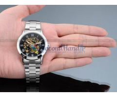 SKELETON AUTOMATIC MECHANICAL WRIST WATCH