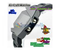 LED Air Craft shape Watches . Handy , Fashinable with Multy color LED backlit Rs. 750/=