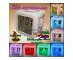 LCD desk clock with color changing LED glow. Nice gift item. Rs.750/= only
