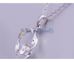 18k white gold jewellery set...002