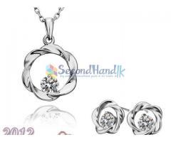 18k white gold jewellery set...002