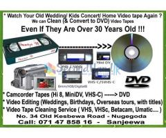Video Tape Cleaning and DVD Recording