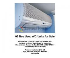 02 Nos Used Air Condition Units for Sale