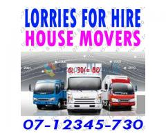 LORRY FOR HIRE AND HOUSE MOVERS 07-12345-730