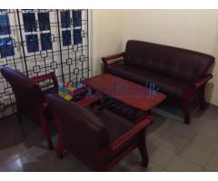 Complete sofa set with coffee table