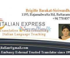 ITALIAN & FRENCH TRANSLATIONS & VISA COUNSELLING
