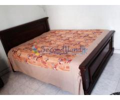 Teak bed + Queen mattress (5X6 feet)