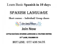 Learn Basic Spanish in 10 days
