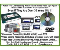 VHS Mini DV Hi8 MInidv to DVD Video Tape Cleaning Umatic Betacam ...