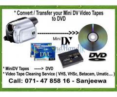 Mini Dv Tapes to DVD , Video Editing