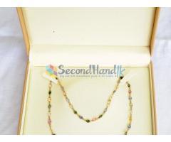 Multi Color Sri Lanka Sapphire (6 colors) station necklace