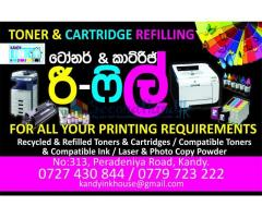 Toner & Ink Cartridge Refil