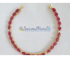 14K Yellow Gold Ruby & Diamond Bracelet