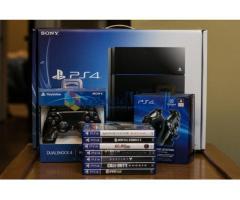 Sony PlayStation 4 500GB Jet Black Console w/ New 7 games Bundle + 2 Dualstock wireless controller