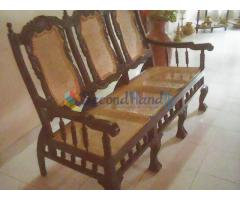 Antique Sofa Set - 3 seater sofa, 2 chairs, teapoy and 2 stools (Rs 39,500 negotiable)