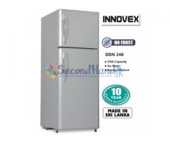 Refrigerator INNOVEX DDN 240 NO FROST 240ltr Quick sale with Warranty