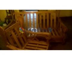 teak bed and chair set(wooden sofa)