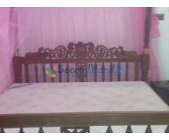 antique bed,spring mettars,net,dining table,char