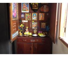 Mahogany Sofa bed, Wardrobe/Shrine cupboard & Microwave oven