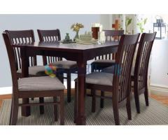 Timber Dining table  with 6 Chairs