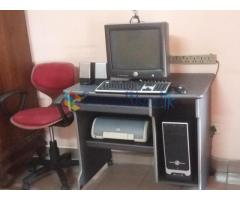 Computer with colour printer