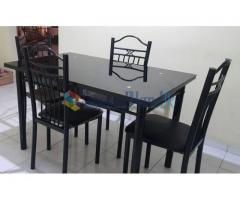 Steel Dining Set ROMAN- 04 seater